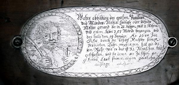 Arkebuz wielkiego rozbójnika Melchiora Gedlofa