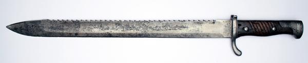 Bagnet niemiecki wz.1898/02 z piłą, do karabinu i karabinka Mauser wz.1898