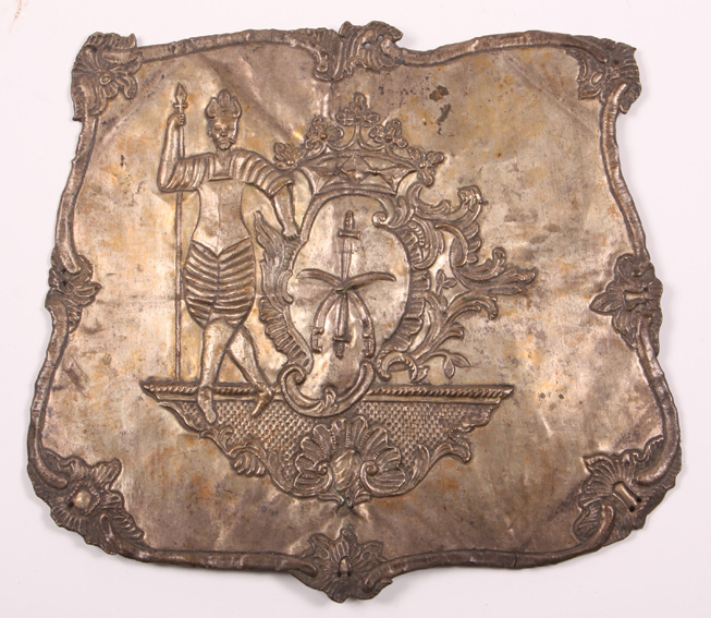 Blacha na szabeltas z I połowy XVIII wieku