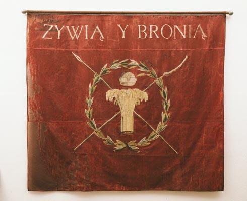 Chorągiew 1. Regimentu Grenadierów Krakowskich z okresu Powstania Kościuszkowskiego