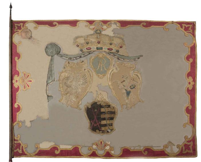 Chor�giew gwardii pieszej koronnej z lat 1697 - 1763