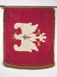 Chorągiew ofiarowana generałowi Józefowi Hallerowi przez papieża Benedykta XV