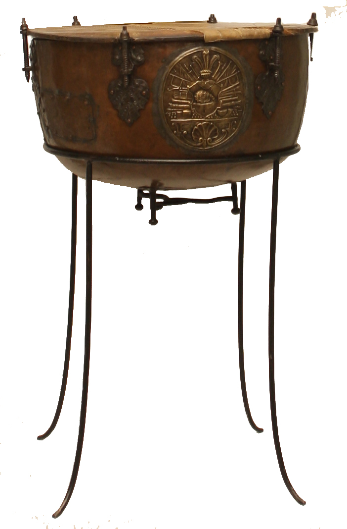 Kocioł - bęben jazdy z XVIII wieku