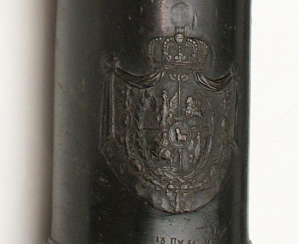 Lufa działa regimentowego 3 - funtowego polowego odlana przez Jana Dietricha