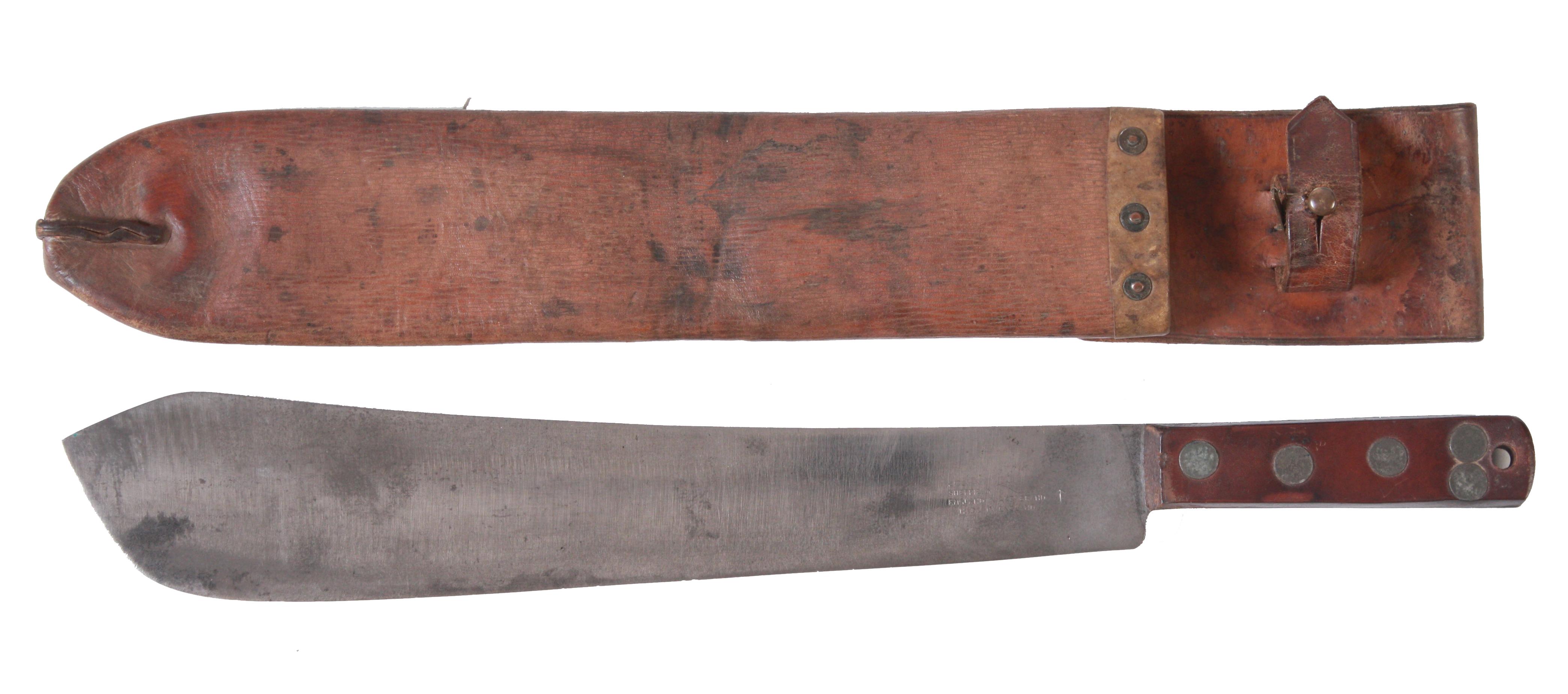 Maczeta angielska do cięcia faszyny z okresu II wojny światowej, używana w oddziałach Armii Polskiej na Wschodzie