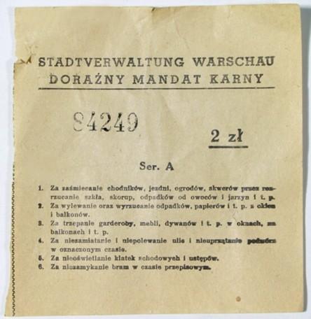 Mandat karny z lat okupacji hitlerowskiej 1939-45