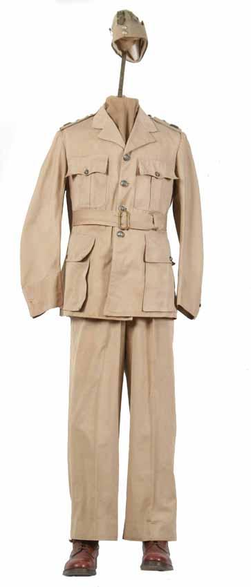 Mundur tropikalny generała brygady Tadeusza Klimeckiego Szefa Sztabu Wodza Naczelnego w Wielkiej Brytanii 1940-1943