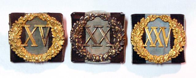 Odznaka za długoletnią służbę.