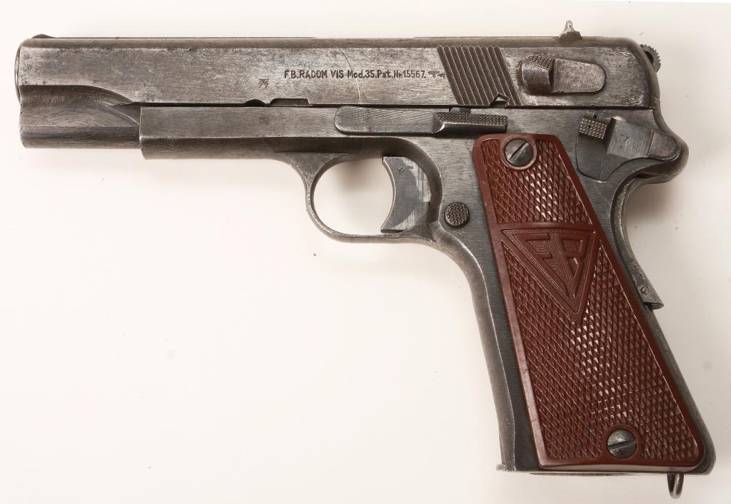 Pistolet P 35 (p) zdobyty przez francuskiego partyzanta