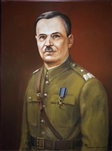 "Portret "" generał brygady Wiktor Thomée"" mal. B. Berg"