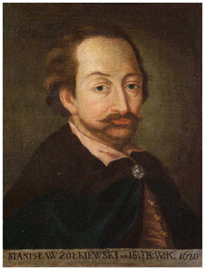 Portret hetmana Stanisława Żółkiewskiego od 6 lutego 1618 r. otrzymał nominację na hetmana wielkiego koronnego, od marca 1618 r. sprawował funkcję kanclerza wielkiego koronnego