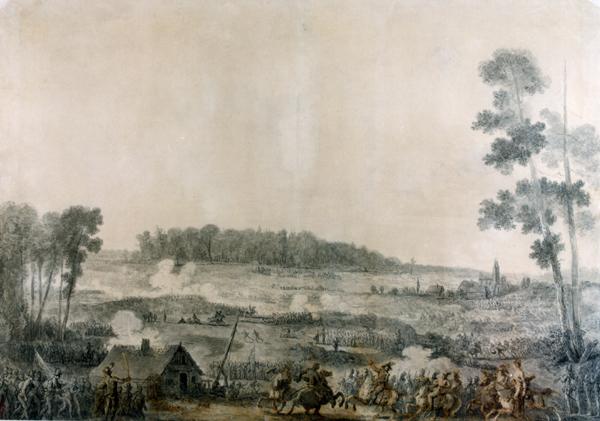 """Rysunek """"Bitwa po Zieleńcami 18 czerwca 1792 r."""" rysował Jean-Pierre Norblin de la Gourdaine (1745 - 1830)"""
