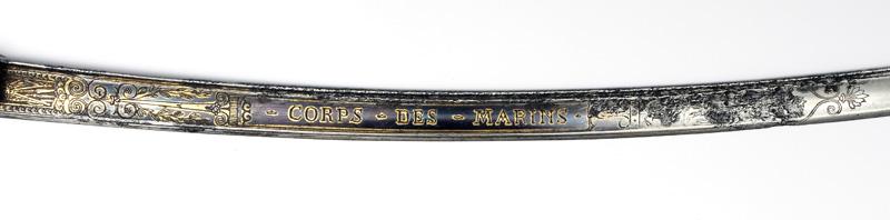 Szabla francuska oficera marynarki modèle Prairial An XII