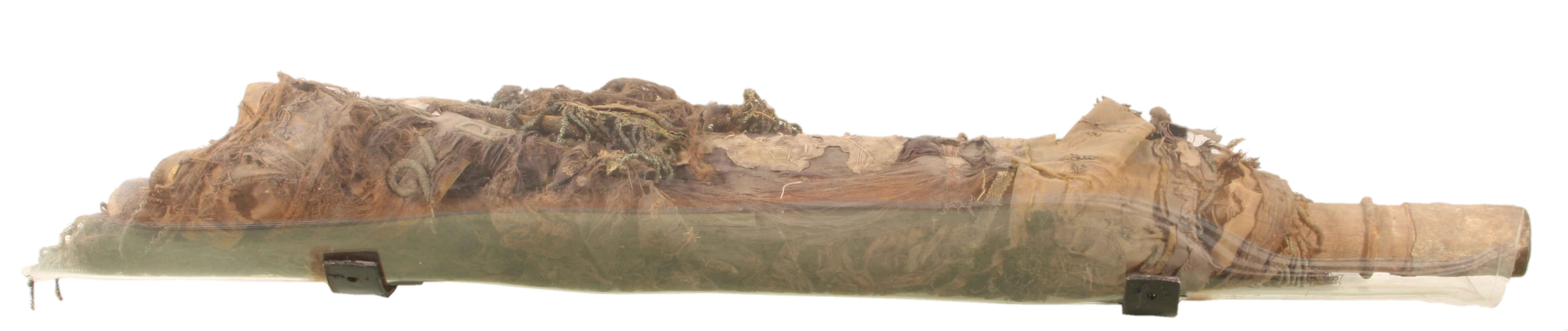 Szczątki proporca strzeleckiego 27. Dywizji Piechoty