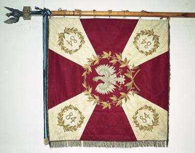 Sztandar 84. pułku strzelców poleskich z Pińska
