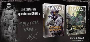 """Promocja książki byłego operatora jednostki specjalnej """"GROM"""" o pseudonimie """"Naval""""."""