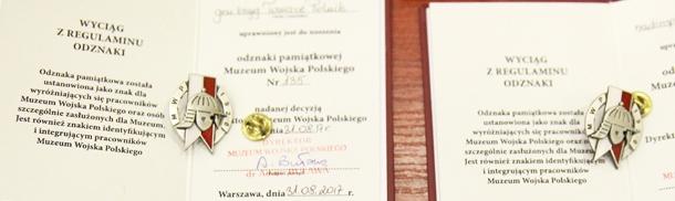 Konferencja i uroczystość wręczenia odznak pamiątkowych Muzeum Wojska Polskiego