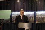 Delegacja MWP na Ukrainie - Prezydent Petro Poroszenko na otwarciu wystawy