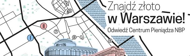 Mapa -Znajdź Złoto w Warszawie