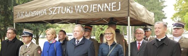 Uroczysta inauguracja roku akademickiego w Akademii Sztuki Wojennej - odsłonięcie popiersia Napoleona