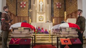 Uroczystości pogrzebowe płk. Ignacego Matuszewskiego oraz mjr. Henryka Floyar-Rachmana