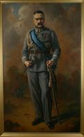 """Obraz, """"Portret Józefa Piłsudskiego, naczelnika państwa"""", Stanisław Zawadzki (1934 r.)."""