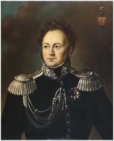 """Kopia obrazu, """"Portret generała dywizji Ignacego Prądzyńskiego"""",   z kopii Pantaleona Szyndlera (1930 r.)."""