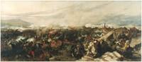"""Obraz """"Bitwa pod Wiedniem"""", Józef Brandt  (1873 r.)."""