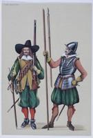 Rysunek, Wizerunki piechoty szwedzkiej z XVII w., Bogdan Wróblewski, (lata 80. XX w.).
