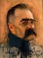 """Obraz, """"Portret Józefa Piłsudskiego"""", Konrad Krzyżanowski (1921 r.)."""