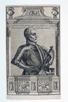 """Miedzioryt, """"Kanclerz Jan Zamoyski"""" (XVII w.)."""