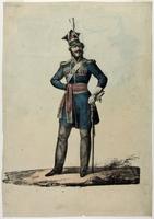 """Litografia kolorowa """"Pu�k I Krakus�w"""", Jan Nepomucen G�owacki 1831 r.)."""