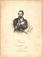 """Litografia """"Walerian �ukasi�ski"""", autor nieznany (XIX w.)."""