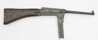 """Pistolet maszynowy MAS używany przez żołnierzy Armii Krajowej podczas akcji ,,Burza"""" (XX w.)."""
