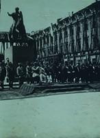 """Fotografia, """"Odsłonięcie pomnika Józefa Poniatowskiego w Warszawie 3 maja 1923 r.""""."""