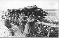 Fotografia, �o�nierze I Brygady Legion�w w okopach (l. 1914-17).