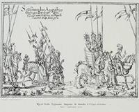 """Rycina """"Wjazd Zygmunta Augusta do Gdańska w 1552 r."""", kopia (XIX w.)."""