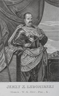 """Miedzioryt, """"Jerzy X. Lubomirski, Marszałek Wielki Koronny, Hetman Pol. K."""", rytownicy Ksawery Prek i Antoni Tepplar (XVII w.)."""