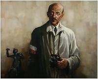 """Obraz, """"Gen. Tadeusz Bór-Komorowski"""", Maciej Milewski, (1990 r.)"""