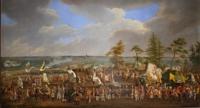 """"""" Kampament na polach czerniakowskich i królikarni w 1732 roku"""", Jana Christiana Mocka, kopia z XIX wieku."""