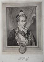 Portrait of Henry Valois, Jan Feliks Piwarski and Maksymilian Fajans, litography (1858)