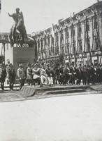Monument of Prince Józef Poniatowski on Saski Square in Warsaw (after 1922)