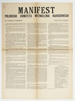 Manifesto to the Polish Nation published by the Polish National Liberation Committee, print (22 July 1944)