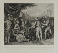 Wichman Vanquished, Franciszek Smuglewicz, copperplate (late 1700s)