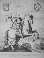 Sigismund III Vasa on Horseback, author unknown, copy of copperplate (19th century)
