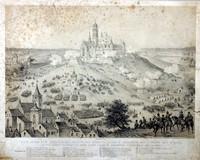 Siege of Częstochowa, author unknown, litography (1800s)