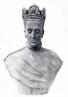 """Rzeźba, """"Popiersie Władysława Jagiełły"""", Wiesław Łabędzki i Edmund Majkowski (1960 r.)."""