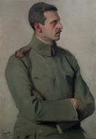 "Obraz, ""Portret majora Cezarego Hallera"", Alfred Karpiński (1919 r.)"