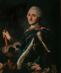 """Obraz, """"Portret koronacyjny króla Stanisława Augusta Poniatowskiego"""", autor nn (XVIII w.)."""