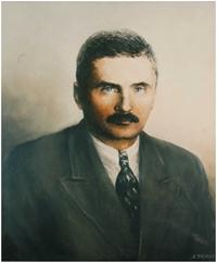 """Obraz, """"Portret gen. Stefana Roweckiego-Grota"""", Andrzej Tryzno (1992 r.)."""
